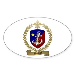 BOUDROT Family Crest Oval Decal