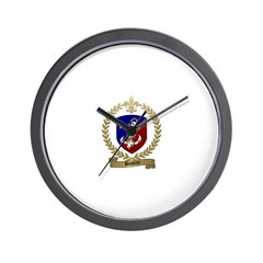 BOUDROT Family Crest Wall Clock