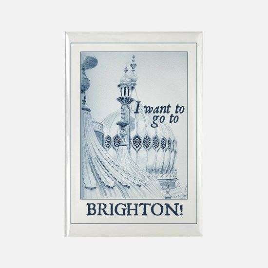 Jane Austen Brighton Rectangle Magnet