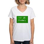 Exit 8A, Cranbury, NJ Women's V-Neck T-Shirt