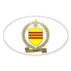BOULET Family Crest Oval Decal