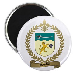 "BOURDON Family Crest 2.25"" Magnet (100 pack)"