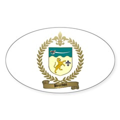 BOURDON Family Crest Oval Decal