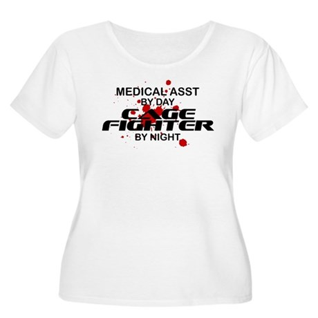 Med Asst Cage Fighter by Night Women's Plus Size S