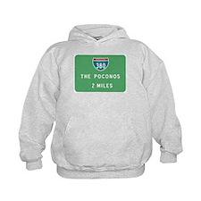 Poconos 380 Exit Sign T-shirt Hoodie