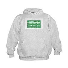 Poconos T-shirts Exits Signs Hoodie