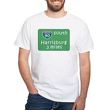 Harrisburg PA Road Sign 90 T- Shirt