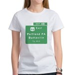 Portland Buttzville PA Exit S Women's T-Shirt
