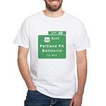 Portland Buttzville PA Exit S White T-Shirt