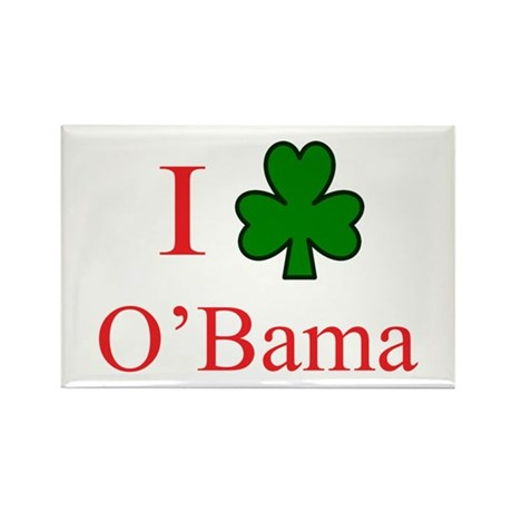I [Shamrock] O'Bama Rectangle Magnet (100 pack)