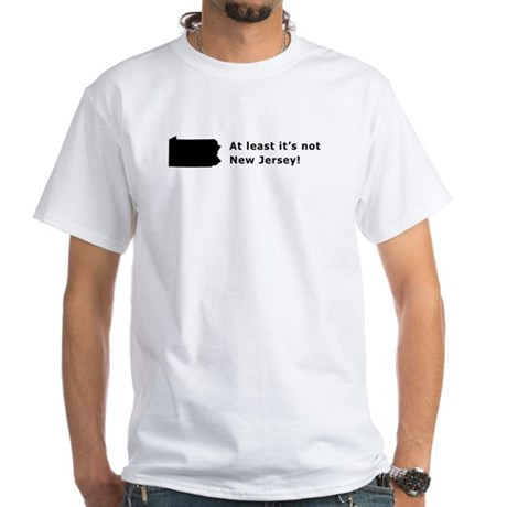 Not New Jersey Slogan T-shirt White T-Shirt