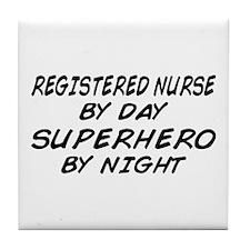 RN Superhero by Night Tile Coaster