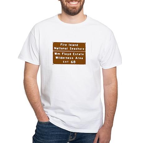 Fire Island Exit Sign T-shirt White T-Shirt