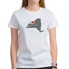 I Heart Buffalo NY T-shirts Tee