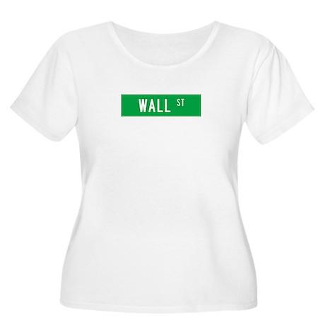 Wall Street T-shirts NY Women's Plus Size Scoop Ne