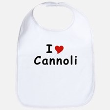 I Heart Cannoli T-shirts Bib