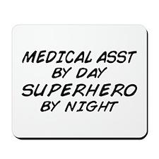 Med Asst Superhero by Night Mousepad