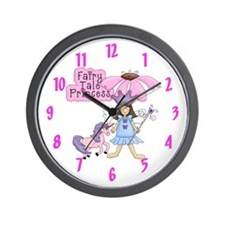 Fairy Tale Princess (brunette) Wall Clock