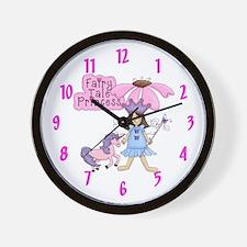 Fairy Tale Princess (brunette) Wall Clock