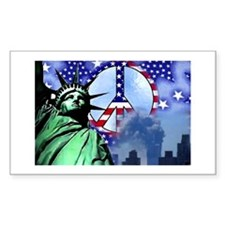 WTC Peace Rectangle Decal