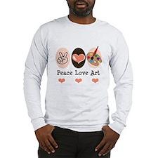 Peace Love Art Teacher Artist Long Sleeve T-Shirt
