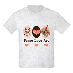 Peace Love Art Teacher Artist T-Shirt