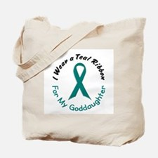 Teal Ribbon For My Goddaughter 4 Tote Bag