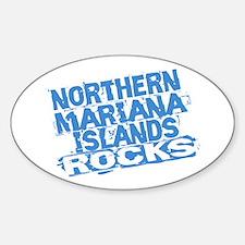 Northern Mariana Islands Rocks Oval Decal
