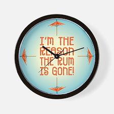 Rum Gone - Wall Clock