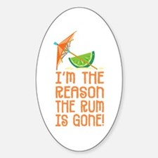 Rum Gone - Oval Decal