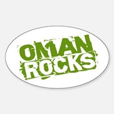 Oman Rocks Oval Decal