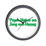 Jung and Horney Wall Clock