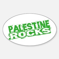 Palestine Rocks Oval Decal