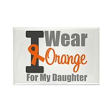 I Wear Orange (Daughter) Rectangle Magnet (10 pack
