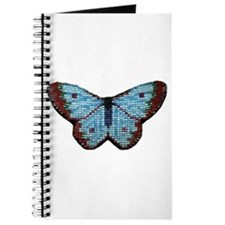Simple Hand-Beaded Butterfly Journal