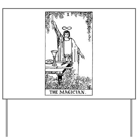 The Magician Rider-Waite Tarot Card Yard Sign
