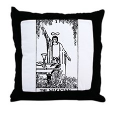 The Magician Rider-Waite Tarot Card Throw Pillow