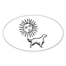 English Setter & Sun Oval Decal