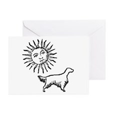 English Setter & Sun Greeting Cards (Pk of 10)