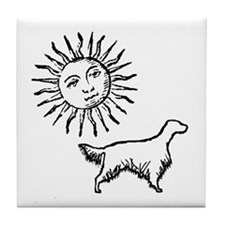 English Setter & Sun Tile Coaster
