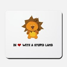 Lion - In Love Mousepad