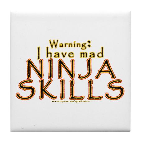 Mad Ninja Skills Tile Coaster