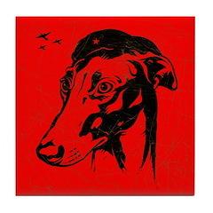 Greyhound Revolution Icon Tile Coaster