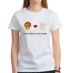 Lion and Lamb - Fell in love Women's T-Shirt