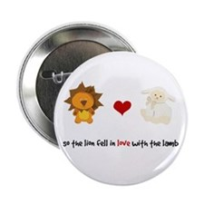 """Lion and Lamb - Fell in love 2.25"""" Button"""