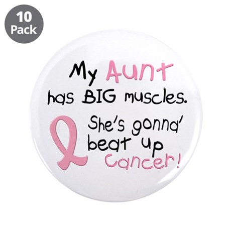 """Big Muscles 1.2 (Aunt Breast Cancer) 3.5"""" Button ("""
