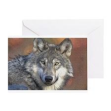 Wolf Art Greeting Card