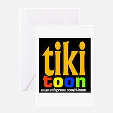 TIKI TOON Logo Greeting Card