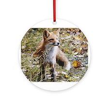 Red Fox Art Ornament (Round)