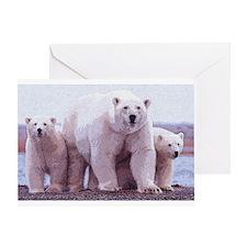 Polar Bear Art Greeting Card